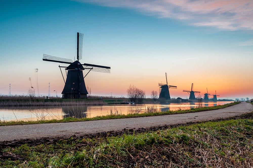 symbole de hollande : les moulins