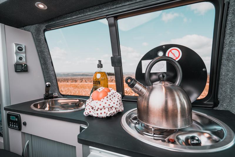 Cuisine d'un van Stylevan - CLC