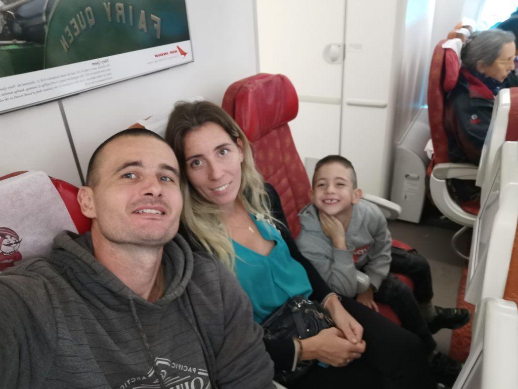 Retour à Paris en avion
